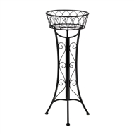 Black Curlicue Single Plant Stand