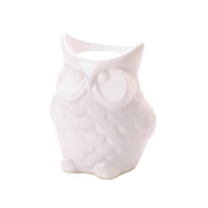 White Friendly Owl Ceramic Fragrance Oil Warmer