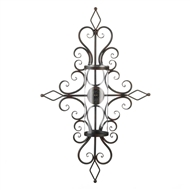 Hypnotic Spiral Candle Wall Sconce