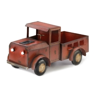 Rustic Red Truck Solar Light Planter