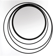 Reducing Geometric Rings Round Wall Mirror