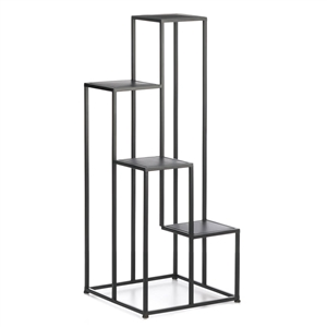 Black 4-tier Modern Plant Stand