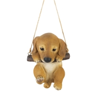 Swinging Puppy Indoor Outdoor Decor