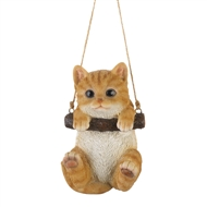 Swinging Kitty Indoor Outdoor Decor