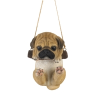 Swinging Pug Puppy Indoor Outdoor Decor