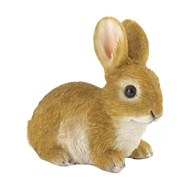 Sitting Still Brown Bunny Rabbit Figurine Decor