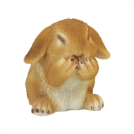 Giggling Bunny Rabbit Figurine Decor