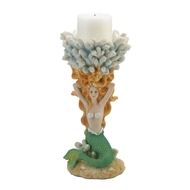 Mermaid Coral Reef Candle Holder Figurine
