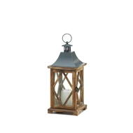 Wooden Diamond Lattice Candle Lantern