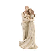 Mom Dad Holding Daughter Family Figurine