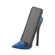 Sparkle Blue High Heel Shoe Cell Phone Holder