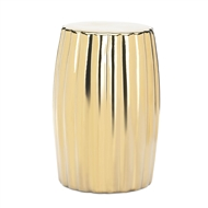 Gold Ceramic Stool Table Decor