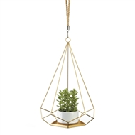 Golden Hanging Pentagon Plant Holder