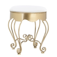 Gold Scrollwork Padded Stool