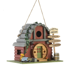 Vineyard Winery Wood Birdhouse