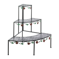 Country Apple Corner 3 Tier Plant Stand