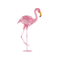 Leaning Flamingo Solar Lightup Statue