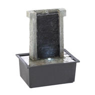 Cascading Stone Wall Tabletop Fountain