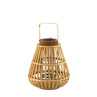Small Slat Wood Candle Lantern