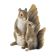 Mommy And Me Squirrel Garden Statue