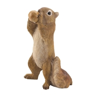 Standing Eating Walnut Squirrel Figurine