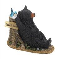 Relaxation Bear Solar Lightup Statue