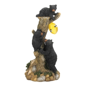 Climbing Bear Trio Solar Light Figurine