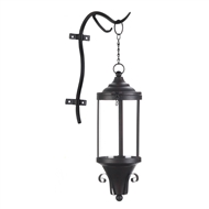 Open Top Hanging Candle Lantern with Hook