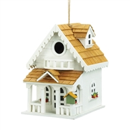 Two Story Happy Home Wood Birdhouse