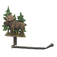 Moose In Forest Toilet Paper Holder