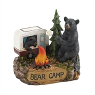 Camping Bear Family Light-Up Figurine