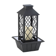 Black Lantern Tabletop Fountain