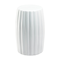 Glossy White Decorative Ceramic Stool Table