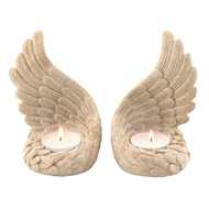 Angel Wings Tealight Holder Set