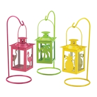 Set of 3 Tropical Mini Candle Lantern