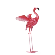 Large Flying Flamingo Metal Decor Statue
