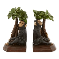 Monkey Hugging Tree Bookends