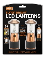 LED Super Bright Camping Lantern Copper 2PK