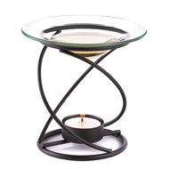 Spiral Metal & Clear Glass Fragrance Oil Warmer