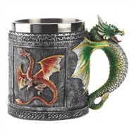 Medieval Royal Dragon Motif Decorative Mug