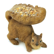 Woodland Bushy Tail Squirrel Bird Feeder