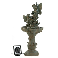 Playful Fairies Solar Water Fountain