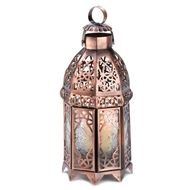 Copper Metal Moroccan Candle Lantern
