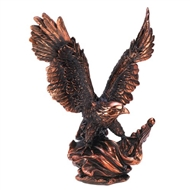 Eagle In Flight Bronze-finish Statue