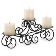 Tuscan Scrollwork Centerpiece Candle Holder