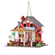 Country Store Red Wood Birdhouse