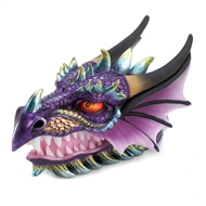 Snarling Dragon Head Colorful Treasure Box