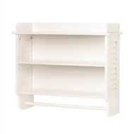 Nantucket White Wood Wall Shelf