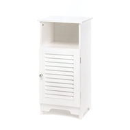 Nantucket White Wood Storage Cabinet