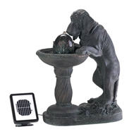 "Thirsty Dog Solar Water Fountain 27"" Tall"